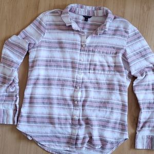 Aeropostale Stripe Cotton Shirt